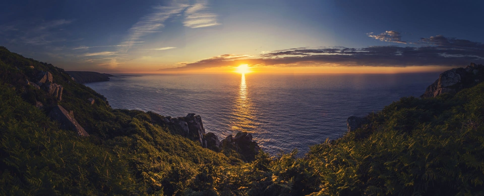 Amazing sunset taken from cliffs near St. Just, Cornwall
