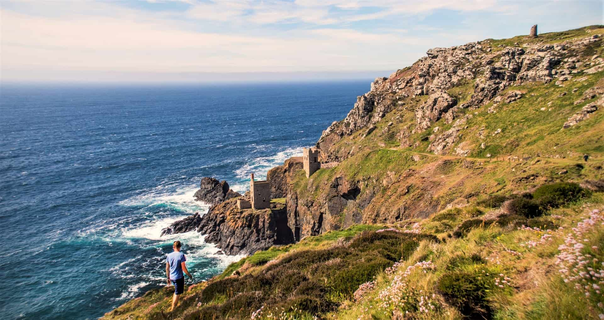 The Crowns Mine at Botallack, Cornwall. Drawing visitors sine the nineteenth century.