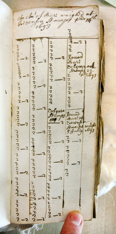 A Toller's Account Book from 1693, relating to records of ancient tin mining in Cornwall