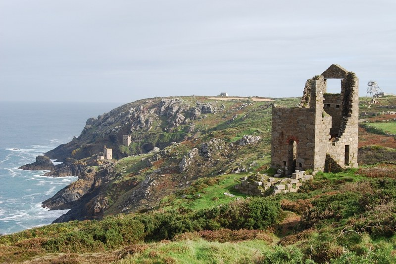 Wheal Edward aka Wheal Leisure, from TV's Poldark, at Botallack, Cornwall.