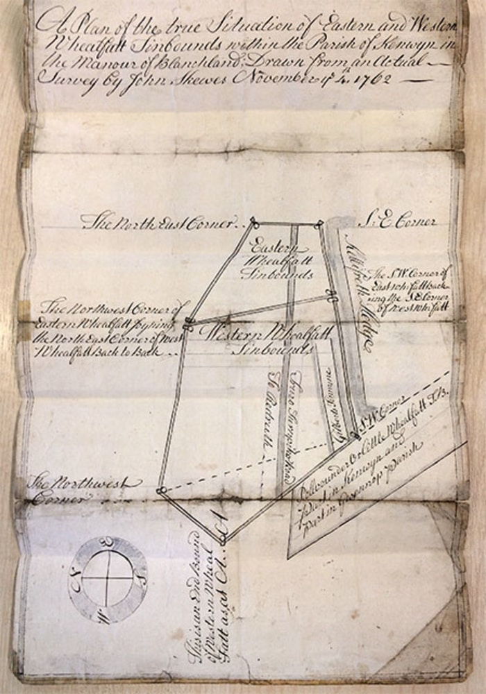 A Cornish Tin Bounds Map from 1762, research by Cornwall Underground Adventures