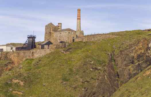 The restored Levant Mine and Beam Engine, managed by the National Trust.