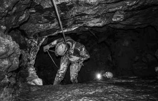 Going deeper underground in Cornwall. Abseiling and caving adventures in Cornwall.
