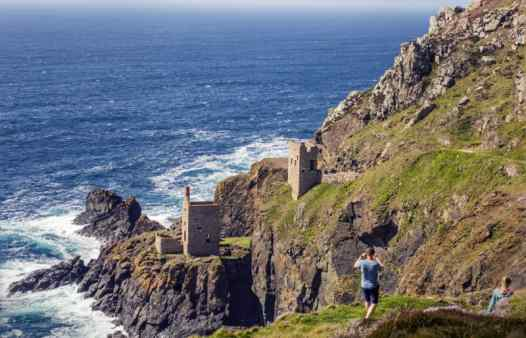 Cornwall's Crowns Mine at Botallack. Mine tours are now available with Cornwall Underground Adventures.